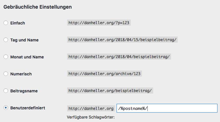 wordpress permalink modification