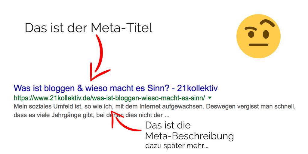 Meta Titel Beispiel