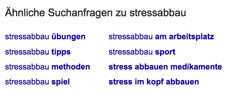 Stressabbau LSI Suchbegriffe