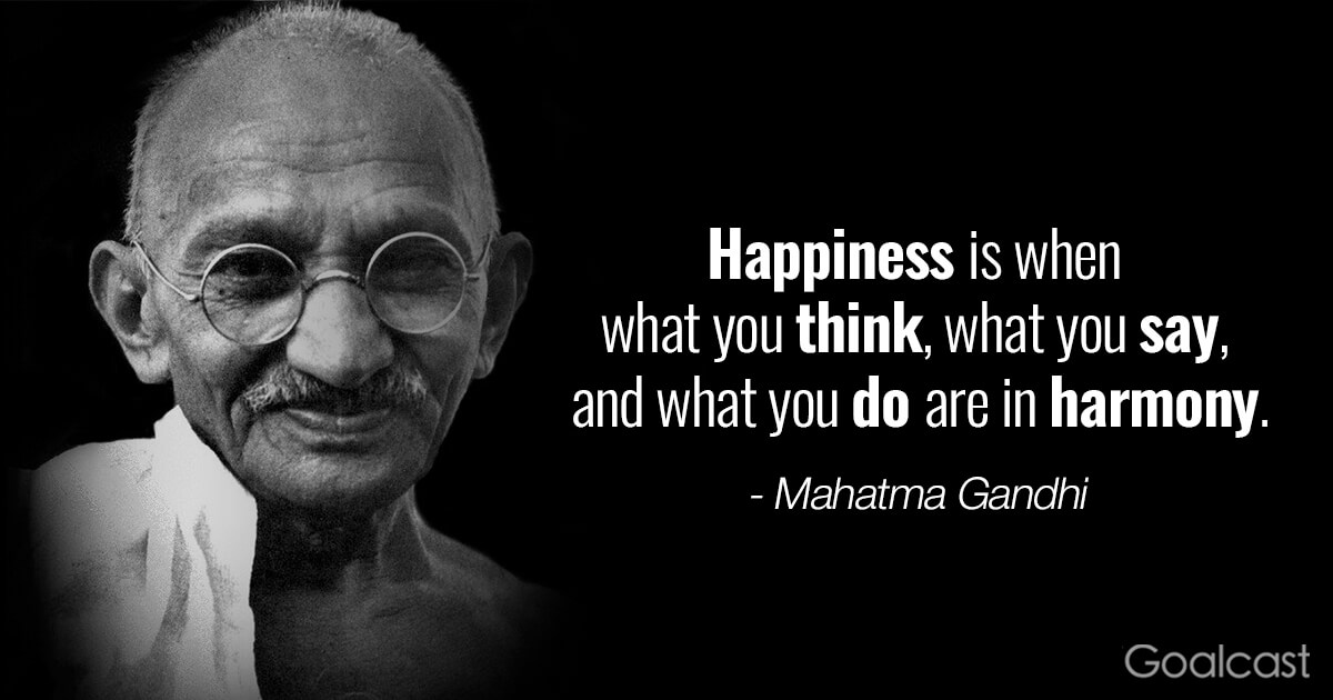 inspiring Gandhi quotes Happiness