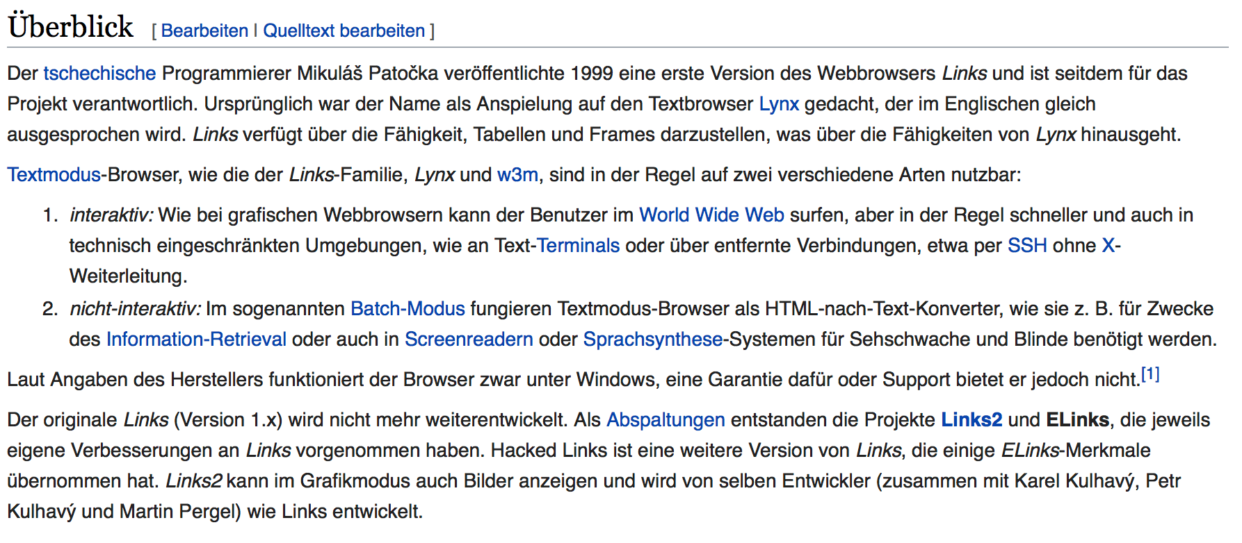 interne verlinkungen Wikipedia