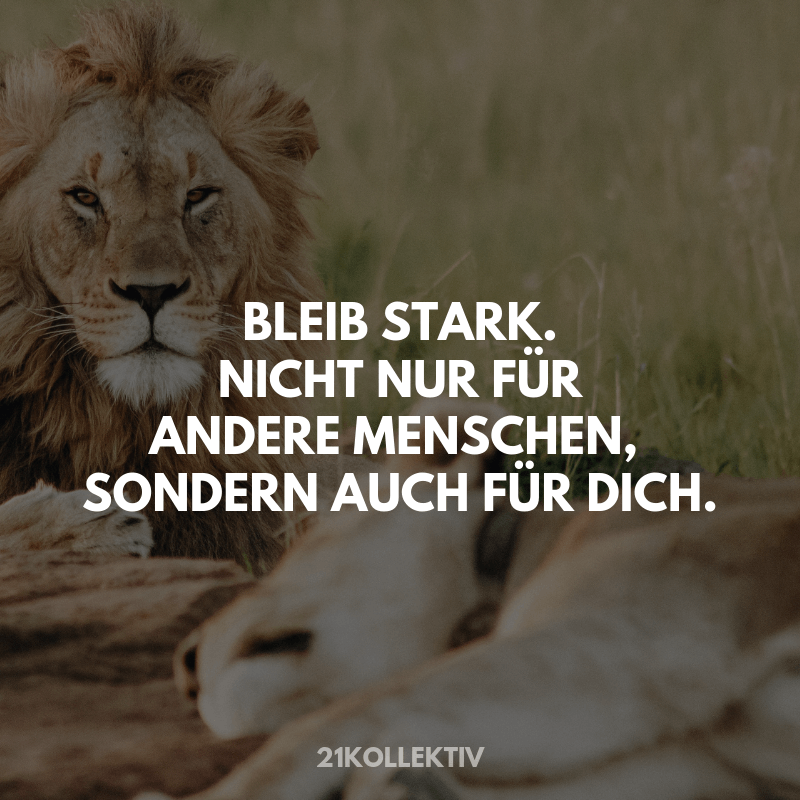 Bleib stark #Motivation