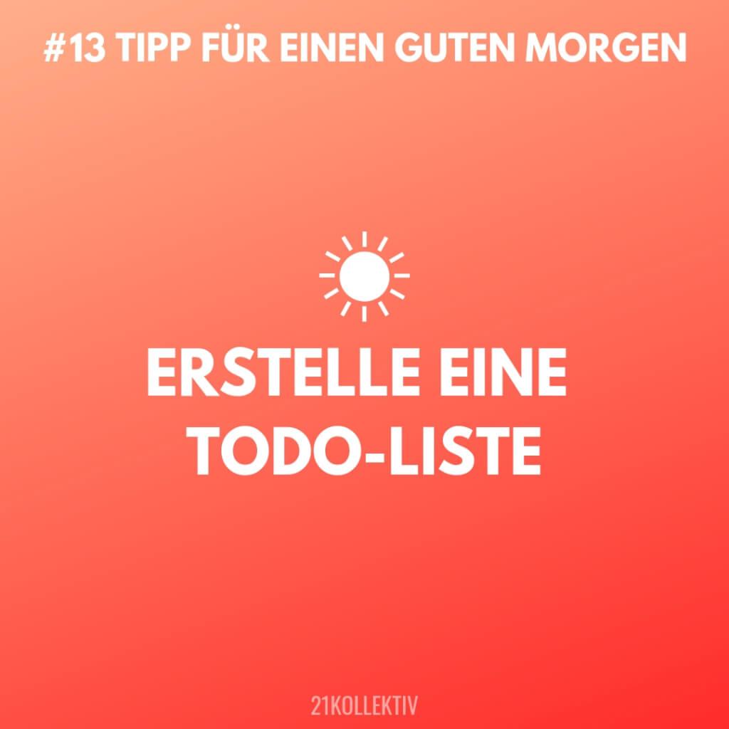 Erstelle eine ToDo-Liste! Tipps für einen Guten Morgen #13