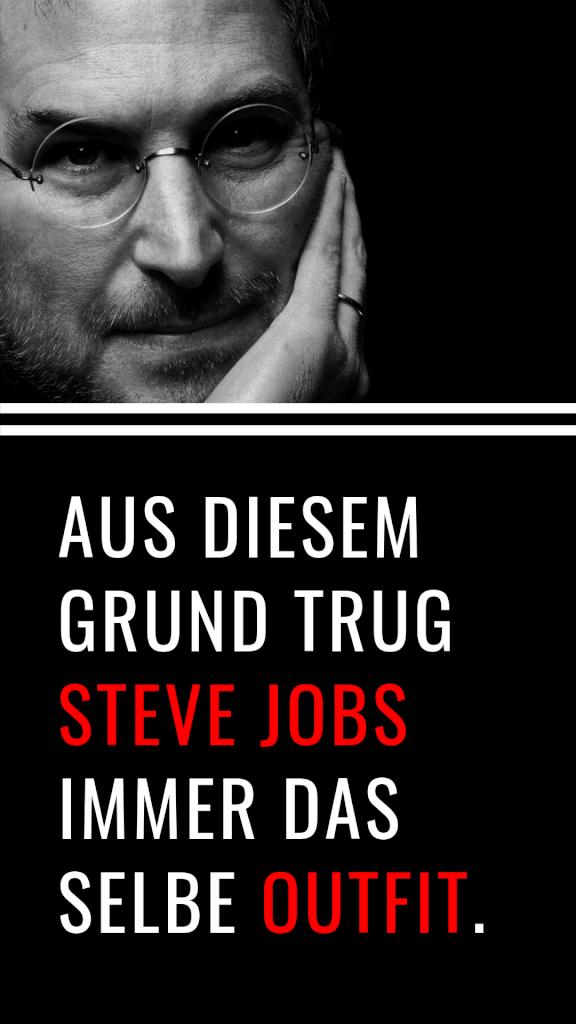 Aus diesem Grund trug Steve Jobs immer das selbe Outfit. #Produktivität