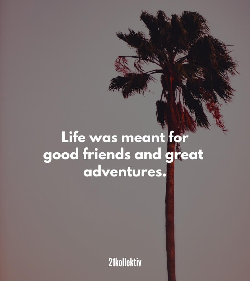 Life was meant for good friends and great adventures.