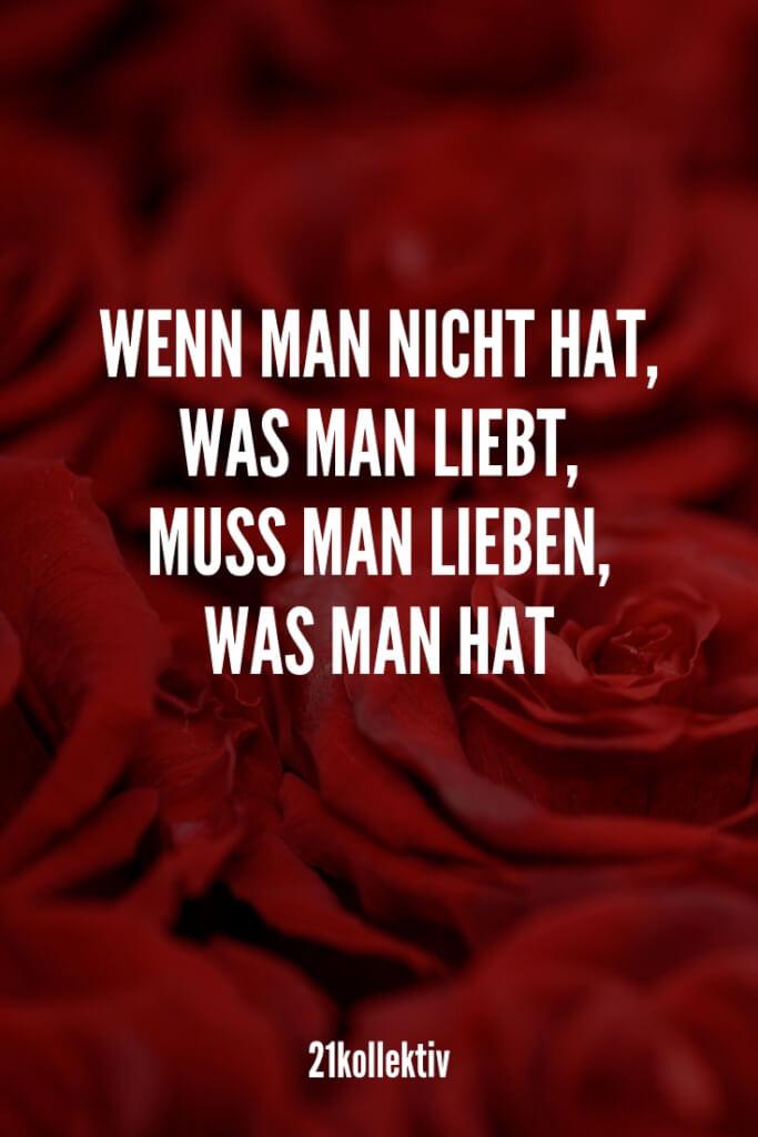 Wenn man nicht hat, was man liebt, muss man lieben, was man hat. |21kollektiv | #zitat #liebe