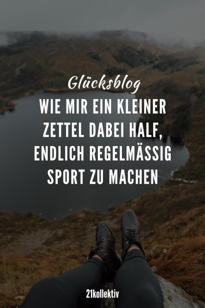 Sport-Motivation durch einen kleinen Zettel | 21kollektiv
