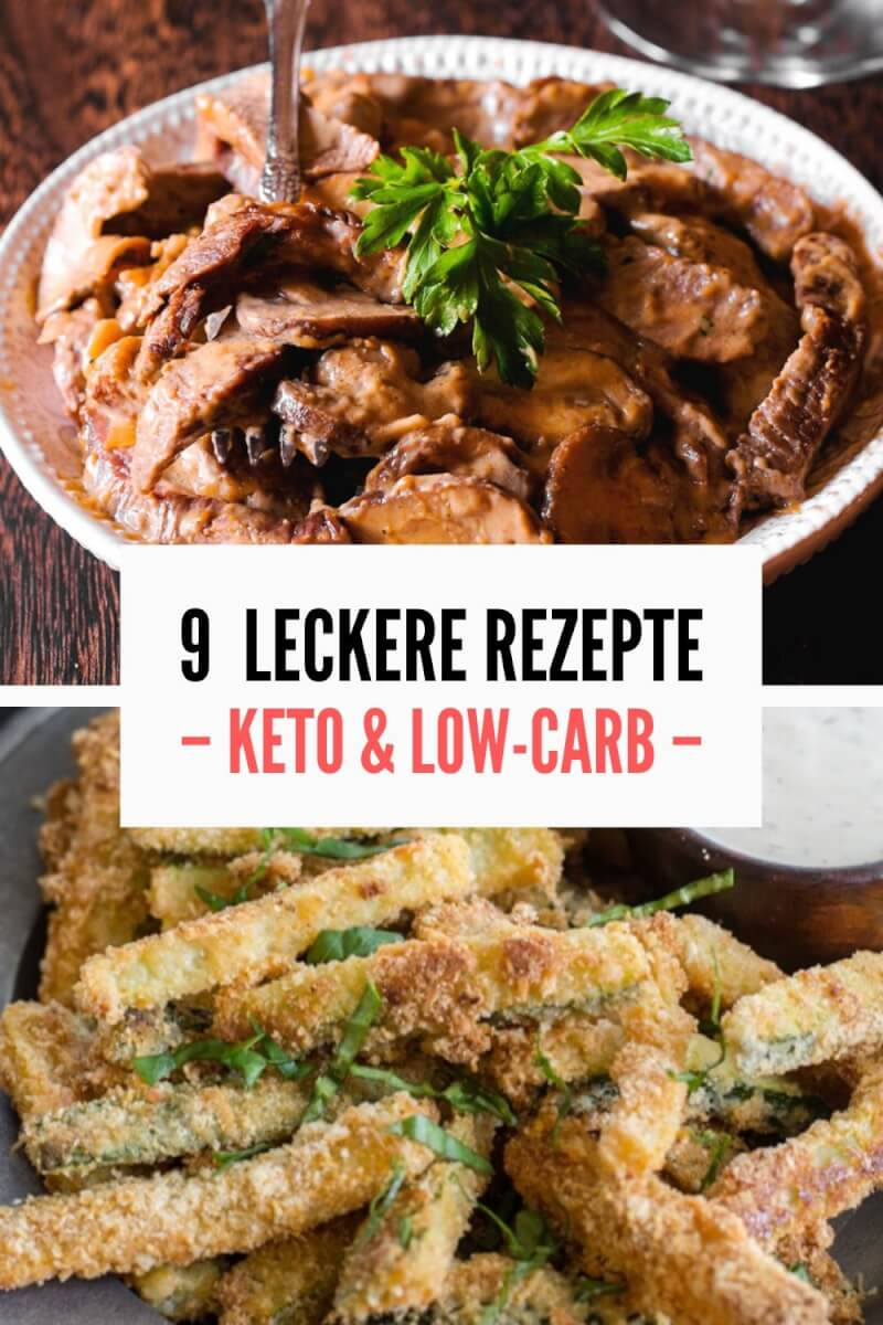 Low Carb Keto Rezepte Pin Image