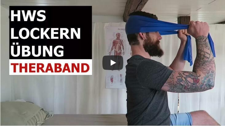 Theraband Übung - gegen Verspannungen der Halswirbelsäule? Schau dieses Video.