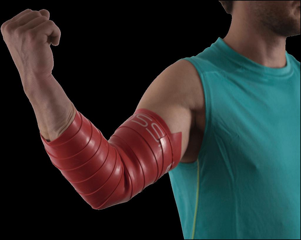Flossing am Arm und Ellenbogen