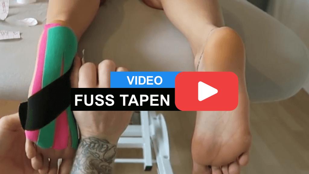 Fuß Tapen - Kinesiology Taping Anleitung für Platt-Senk- und Spreizfuss