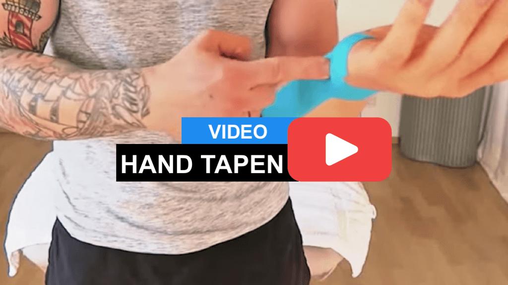 Unterarm tapen - Kinesiology Tape Anleitung für den Unterarm (Innenseite) und das Handgelenk