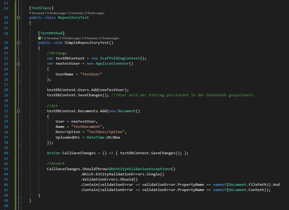 Ein simpler Code-Test