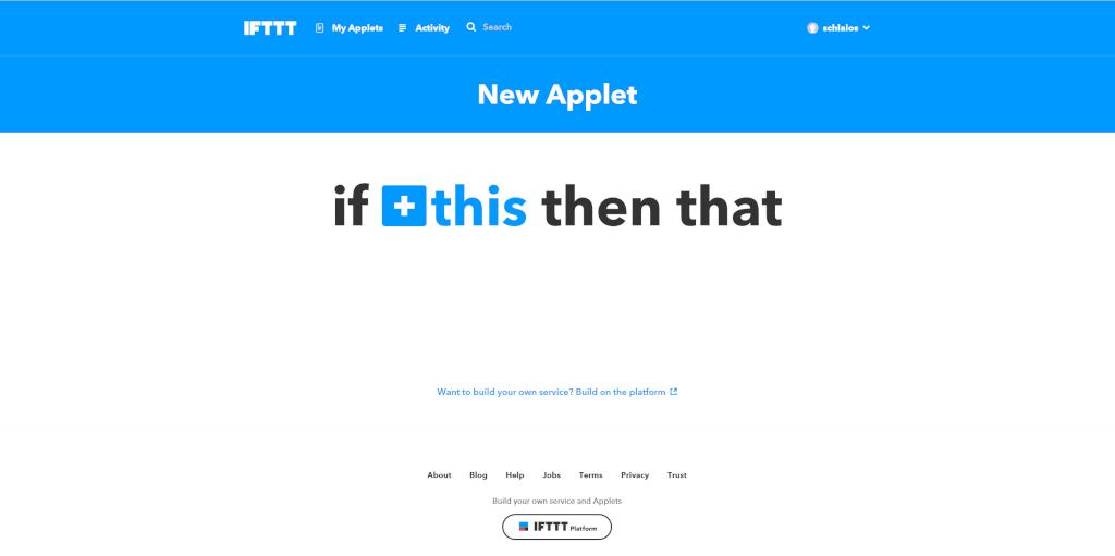 Einstieg: Neues Applet erstellen