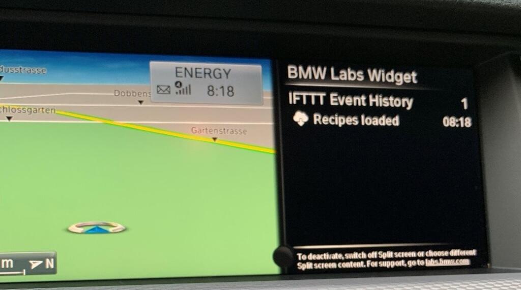 ifttt bmw labs widget geladen
