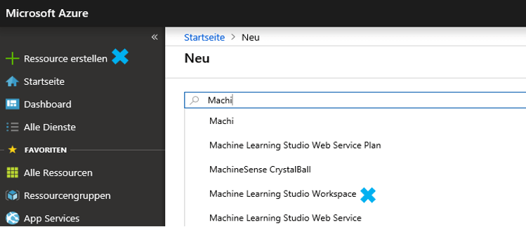 Arbeitsbereich in Azure Machine Learning anlegen