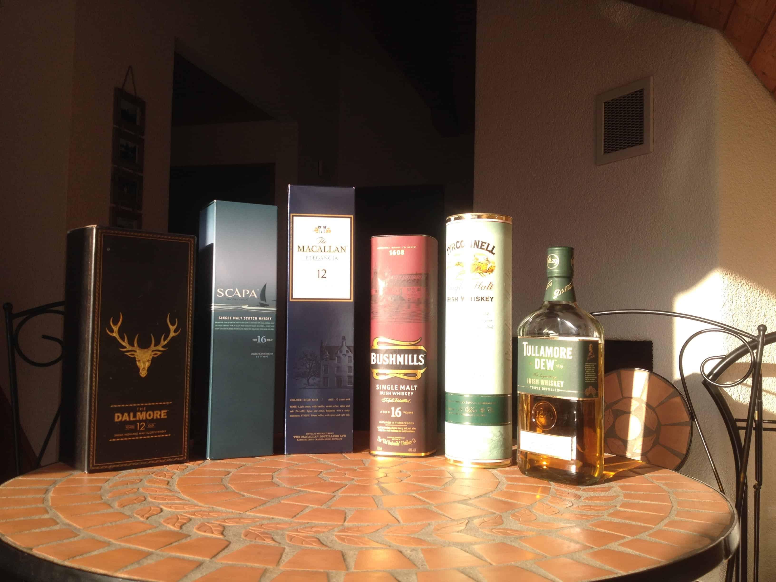 Irischer und schottischer Whiskey