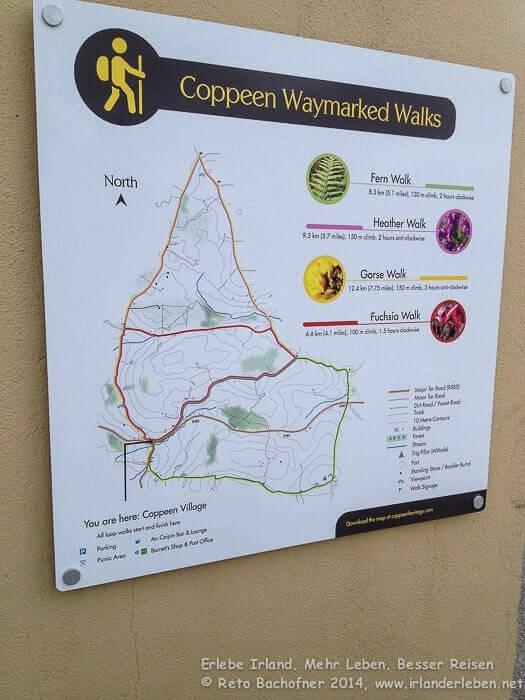 Die Ortschaft Coppeen nördlich von Balineen bietet insgesamt vier verschiedene Loopwalks an. Ausgangspunkt ist die Tankstelle mit Shop im Ortszentrum.