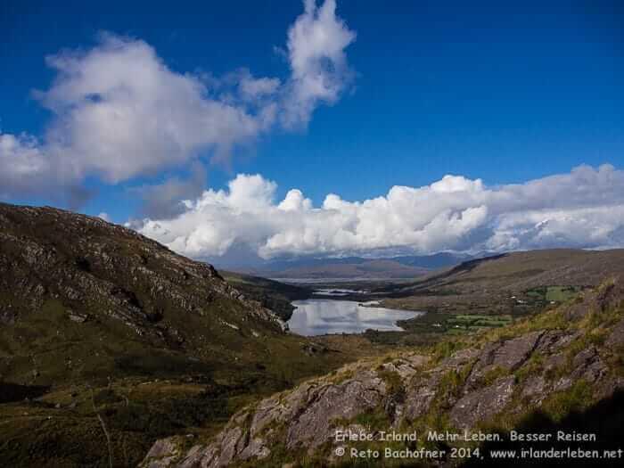 Wandern in Irland. Gleninchaquin Naturpark, Beara