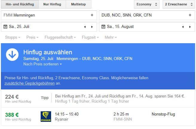Google Flights - Die Suchmaschine für Flüge
