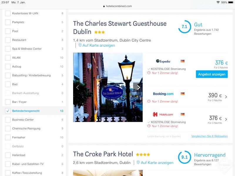 barrierefreihes hotel irland