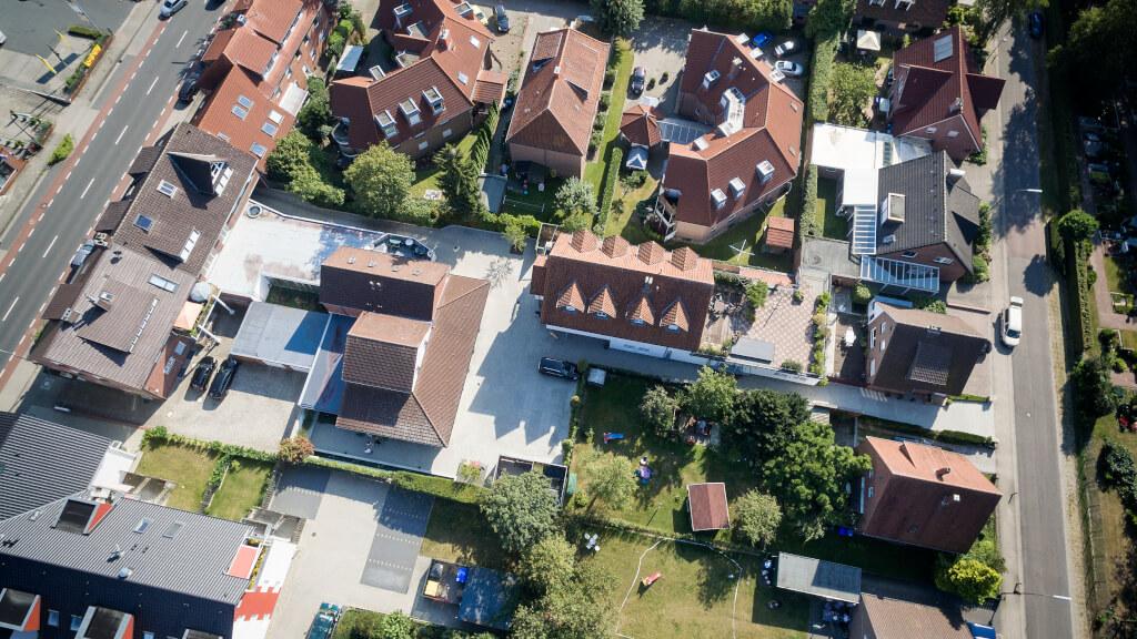 Luftaufnahme von unserem Bestattungshaus