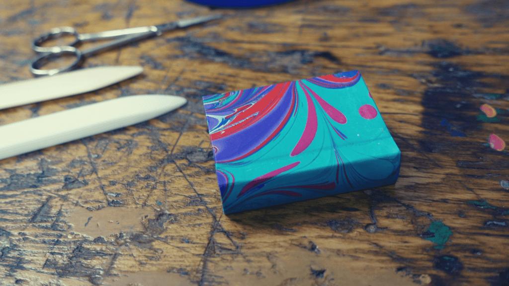 Buchbinde-Projekt: Mini-Buch in A9