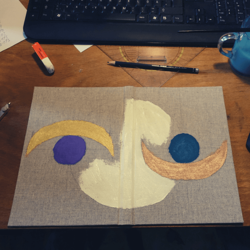 Einband gestalten Malen