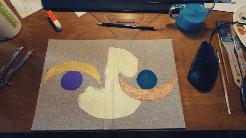 Anleitung: Einband gestalten mit Farben