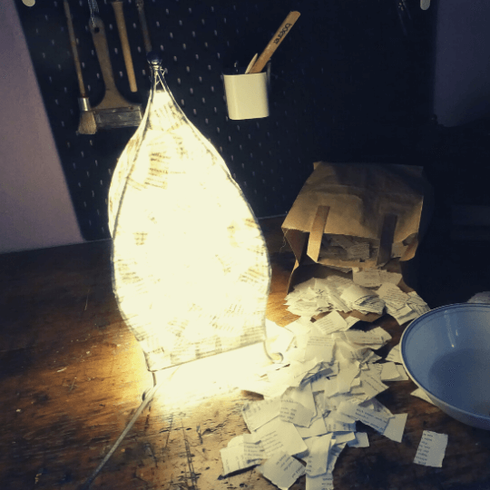Lampenschirm basteln Papier 5
