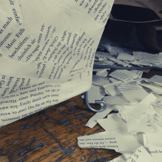 Lampenschirm basteln Papier 8