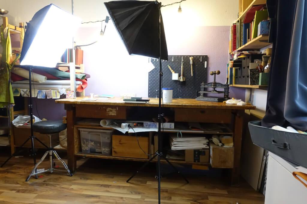 Buchbinderei zu Hause einrichten