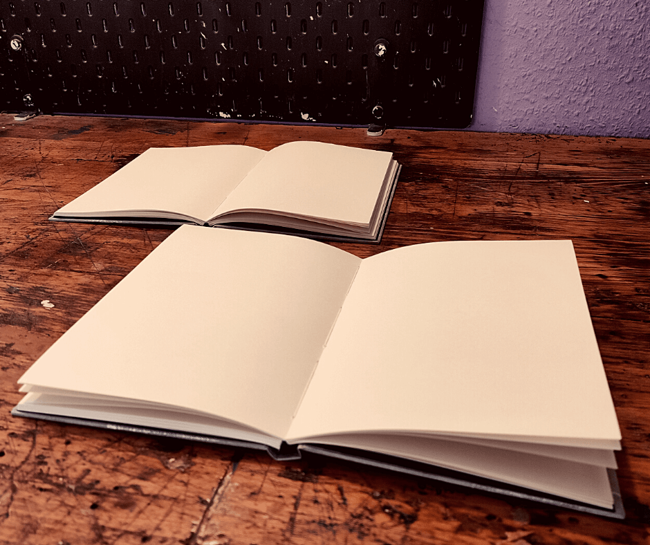 Laufruchtung beim Buch aufgeschlagen