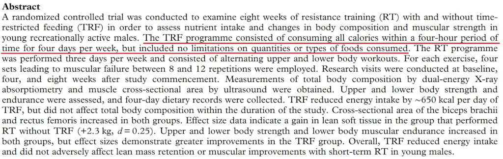 protein intermittent fasting abstract