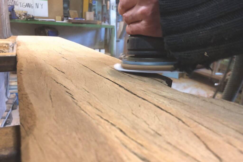 letzter schliff upcycling tisch