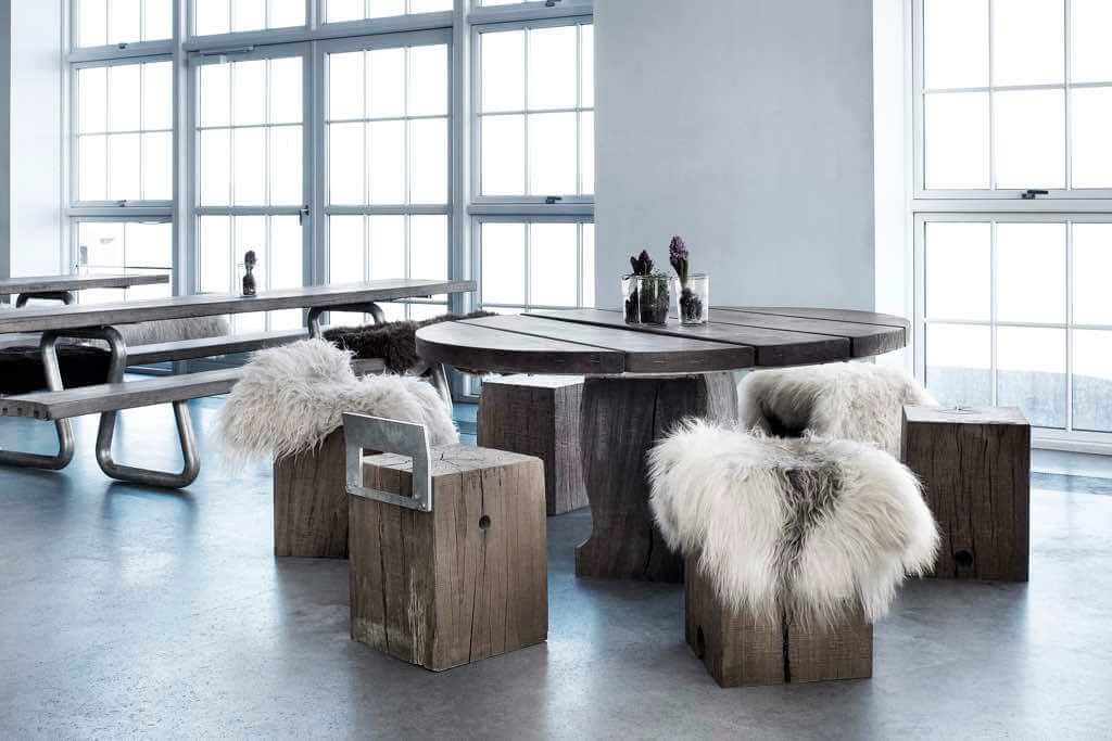 thors globe und gamme tisch bank naturholzmoebel