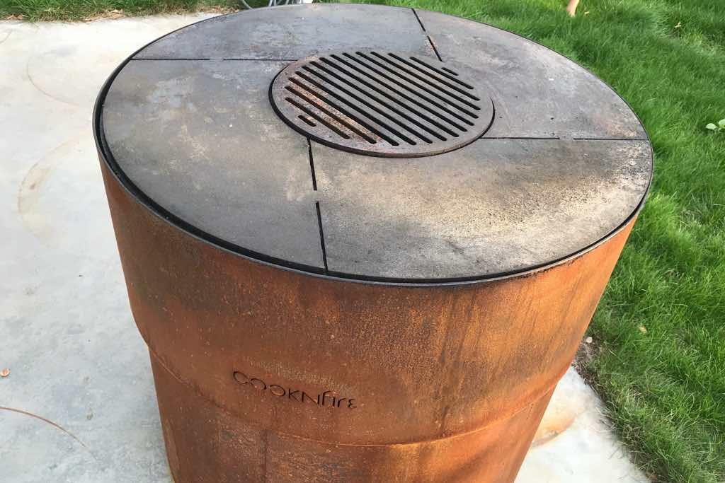 kochplatte outdoor grill cortenstahl