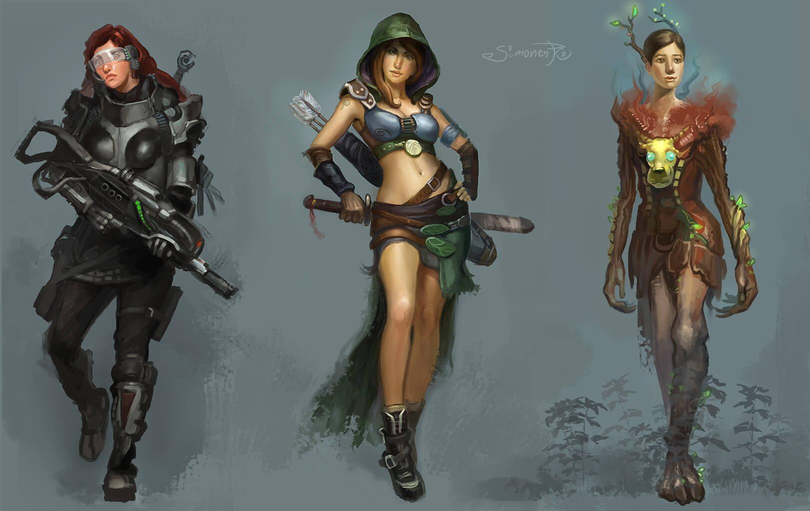 maxim simonenko maximko portfolio concept art character art