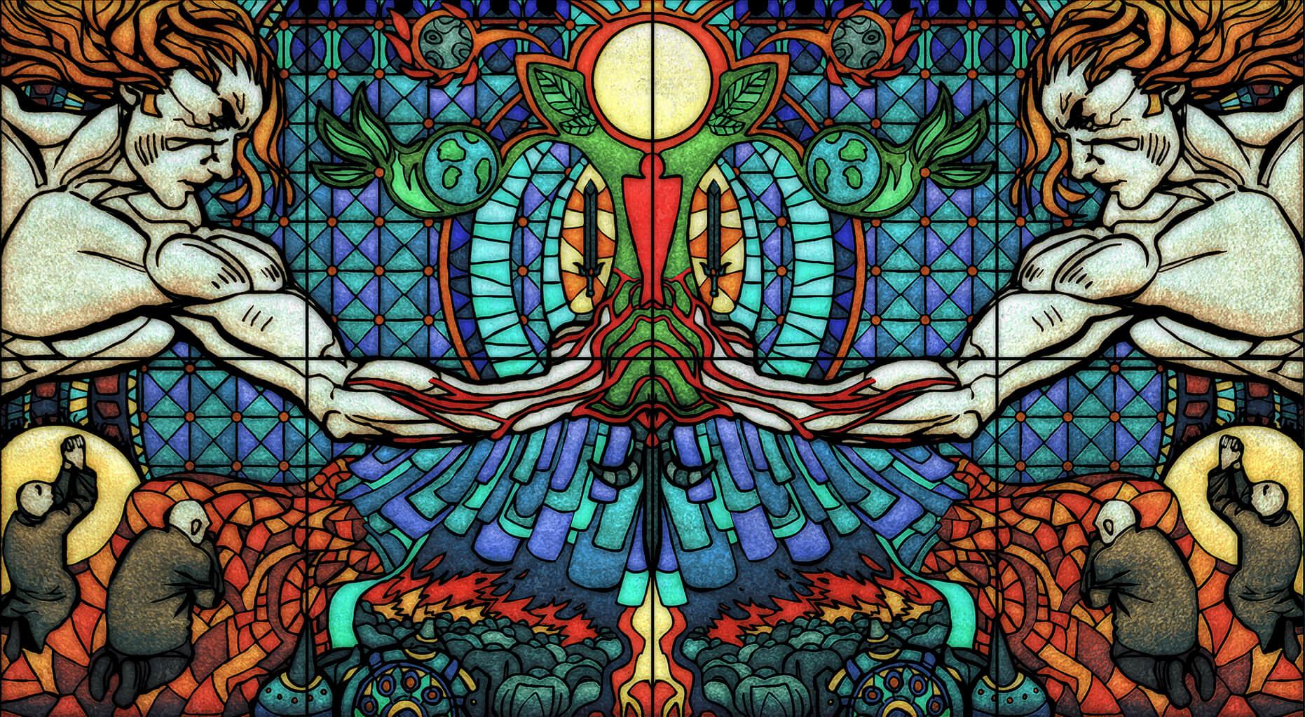 maxim simonenko maximko portfolio concept art glasmosaik