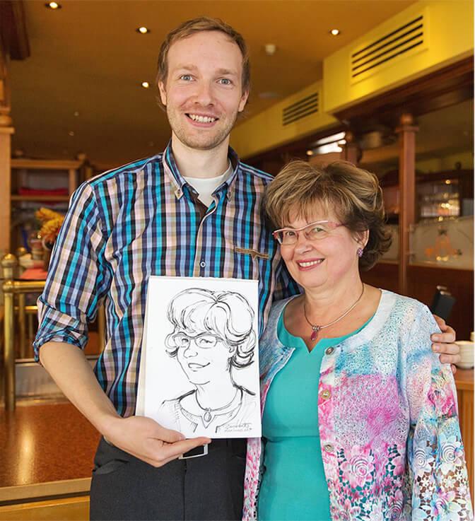 schnellzeichner maxim simonenko portrait karikatur berlin hamburg lübeck schwerin rostock