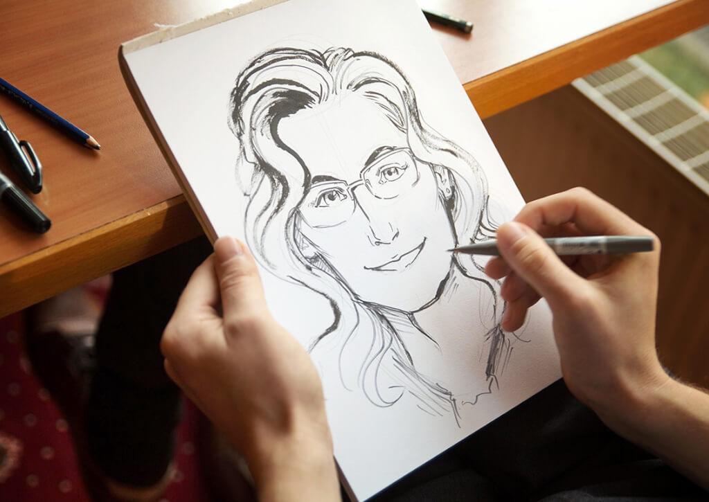 portrait geburtstagfeier schnellezeichner rostock sellin mecklenburg vorpommern maxim simonenko