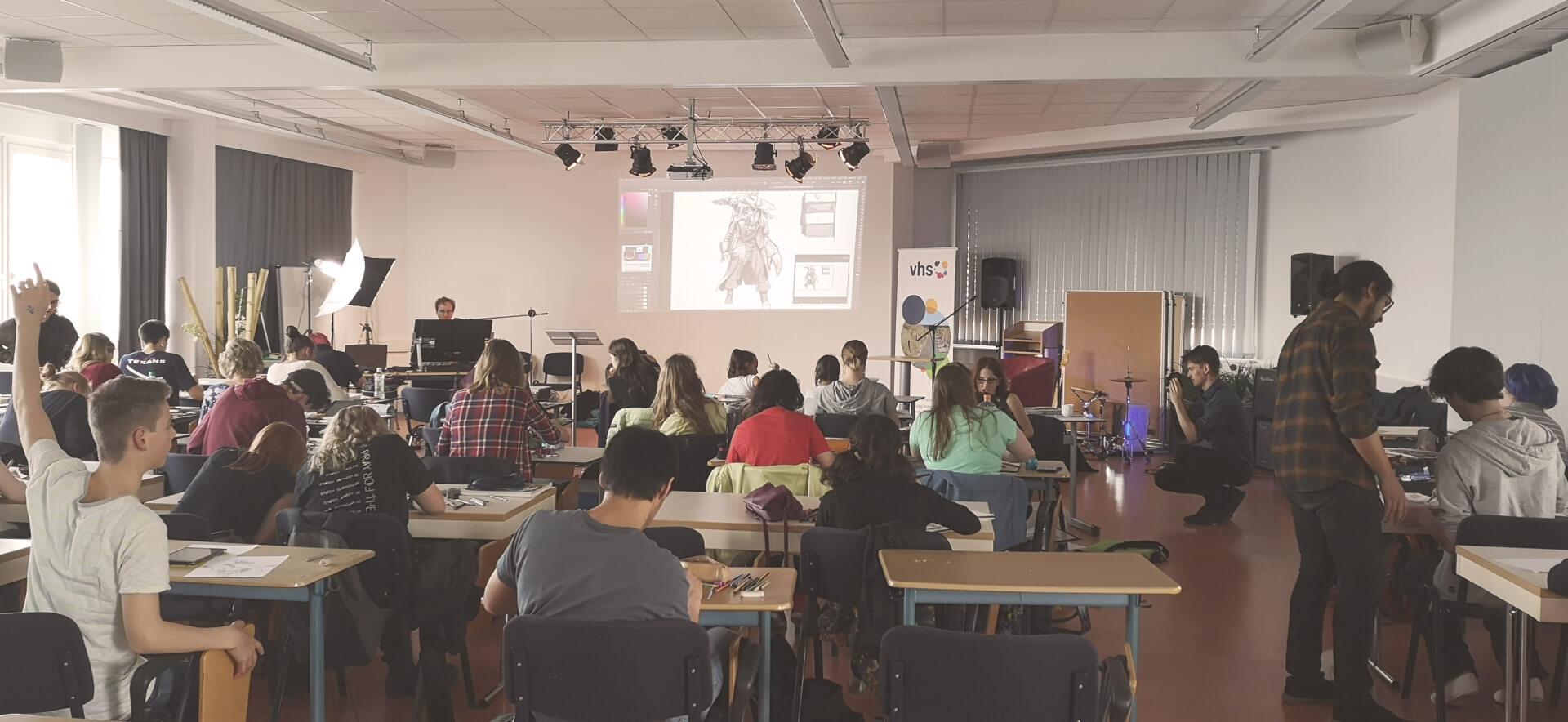 zeichenfest rostock volkshochschule 2019 foto von maxim simonenko