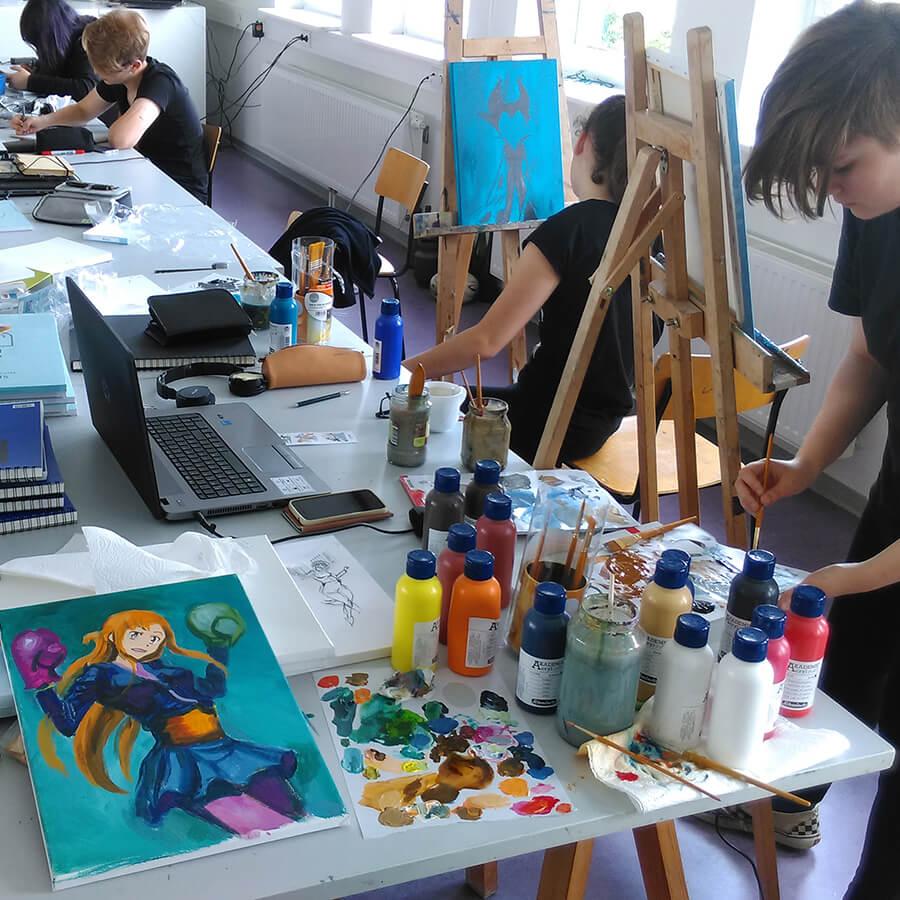 ferienzeichenkurs rostock volkshochschule zeichnen lernen ferien jugendliche kinder zeichenkurs kostenlos maxim simonenko