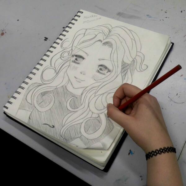 manga zeichnen lernen zeichnung bleistift mädchen manga augen maximko