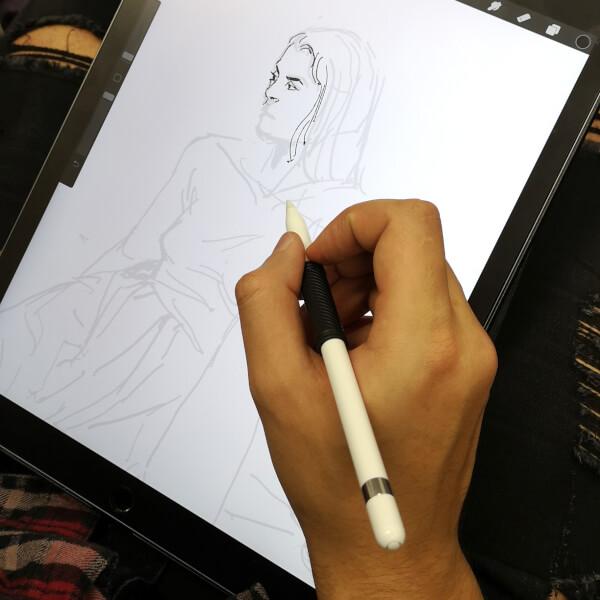 menschen zeichnen zeichenkurs live model modell digital ipad grafiktablett zeichnung zeichnen lernen rostock volkshochschule maxim simonenko