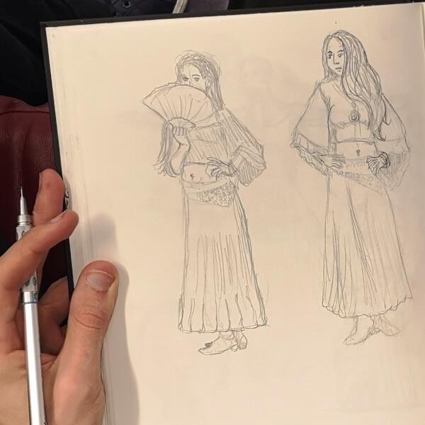 menschen zeichnen zeichenkurs live model modell brasilianisches mädchen zeichnung zeichnen lernen rostock volkshochschule maxim simonenko