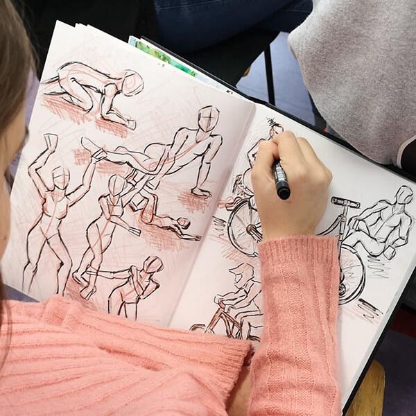 manga comic game art zeichenkurs zeichnen lernen kids jugendliche volkshochschule rostock maxim simonenko