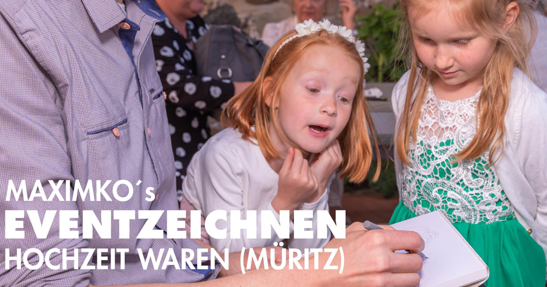 Hochzeit-Portrait-Zeichnen beim Pferdecamper Waren Müritz