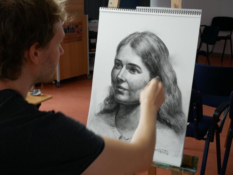 porträt portrait zeichnen lernen mit maxim simonenko
