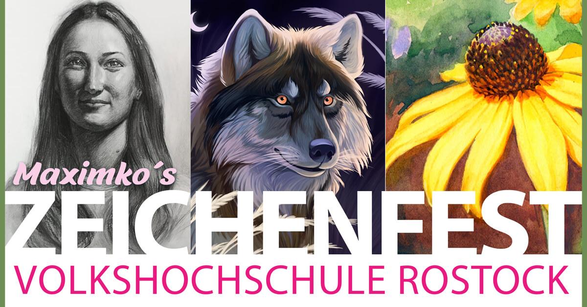 zeichenfest rostock maxim simonenko zeichnen lernen volkshochschule rostock